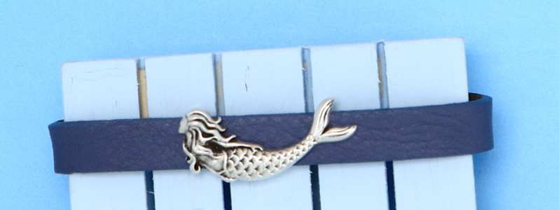 Maritimes Armband mit Slider Meerjunfrau