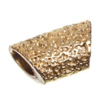 Metallperle, Röhre, 11 x 7 mm, vergoldet