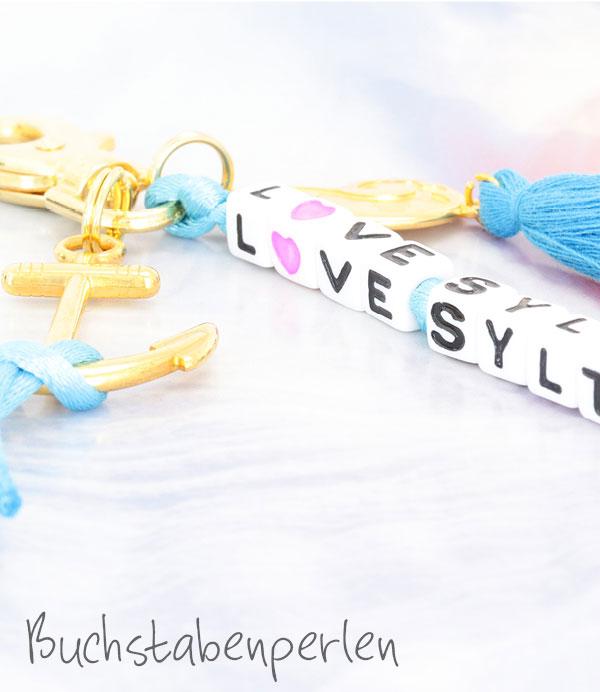Schmuck mit Buchstabenperlen
