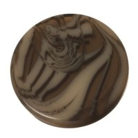 Polaris Cabochon Animalprint Zebra, rund, flach, 12 mm, golden shadow-schwarz