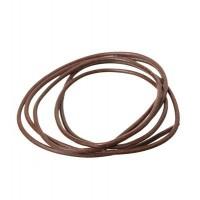 Lederband, 2 mm, Länge 1 m, dunkelbraun