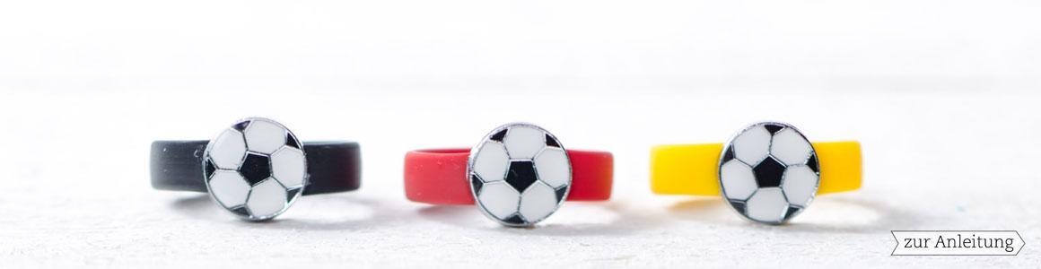 Metallperlen & Anhänger Fußballperlen