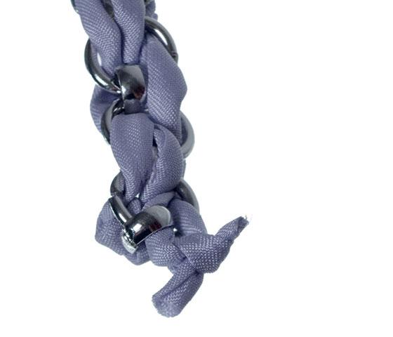Geflochtenes Seidenarmband selber machen Schritt 15