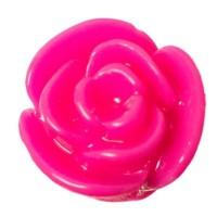 Kunststoffcabochon Rose, 11 x 8 mm, pink
