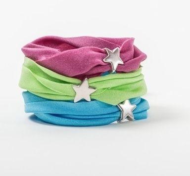 Wickelspass - Armbänder mit Lycra-Band und Slidern