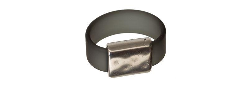 Ring Rechteck Grau
