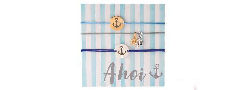 "Set Armbänder mit Coins ""Ahoi"""