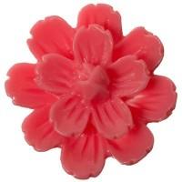 Kunststoffcabochon Blume, 21 x 8,5 mm, pink
