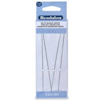 Beadalon Big Eye Needle, Perlnadel, 4 Stück, Nadeldicke 1,0 mm