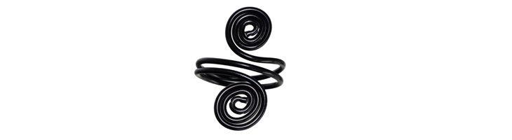 Schnecken-Ring Schwarz