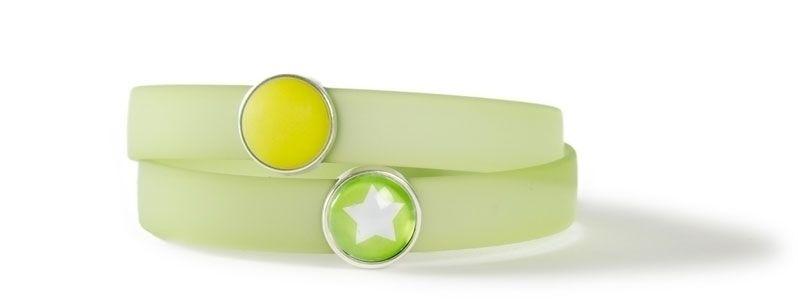 Wickelarmband mit Sliderperlen Hellgrün