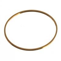 CM Metallanhänger Kreis, 30 x 1 mm, goldfarben