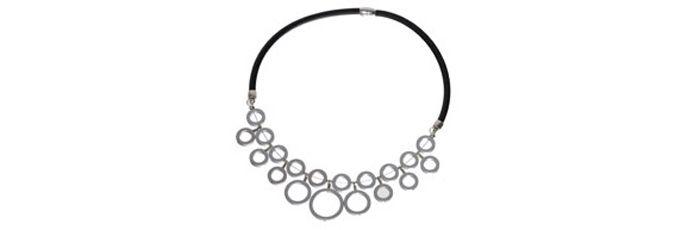 Statement-Kette Silber Kreise