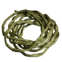 Habotai-Seidenband, Durchmesser 3 mm, Länge 110 cm, olivgrün