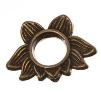 CM Metallperle Lotus, 19 x 14 mm, bronzefarben