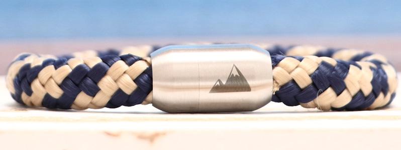 Segeltauarmband mit 8 mm Segeltau Berggipfel