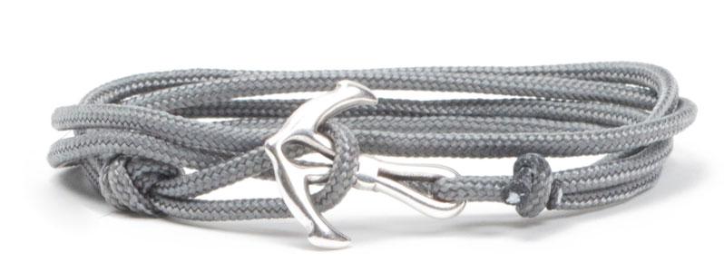 Wickel-Ankerarmband grau