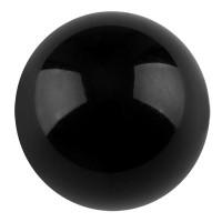 Polarisperle glänzend, rund, ca. 14 mm, schwarz