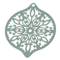 Metallanhänger Boho filigran, 45 x 39 mm, veraman