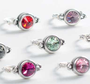 Ring mit Fassung für Rivoli und Modellierdraht biegen