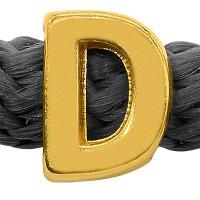 Grip-It Slider Buchstabe D, für Bänder bis 5mm Durchmesser, vergoldet