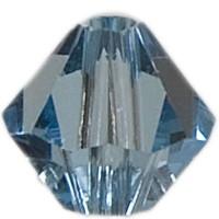 Swarovski Elements Bicone, 4 mm, aquamarine