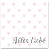 "Schmuckkarte ""Alles Liebe"", quadratisch, Größe 8,5 x 8,5 cm"