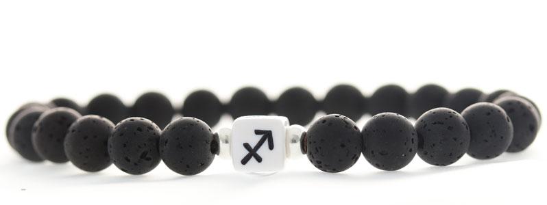 Armband mit Buchstabenwürfeln Sternzeichen