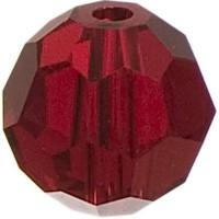 Swarovski Elements, rund, 6 mm, siam