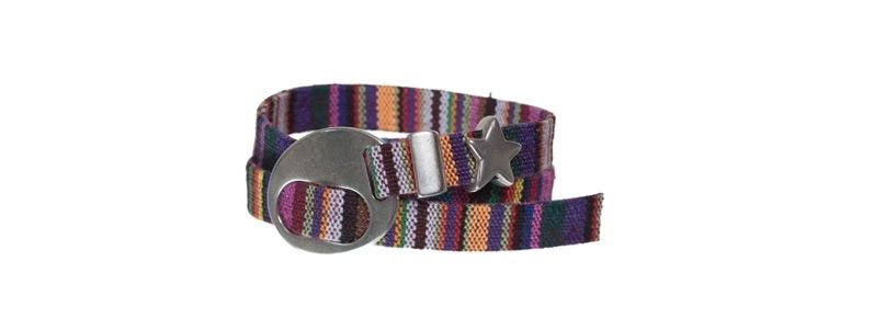 Flaches Ethnoarmband Multicolor Mix