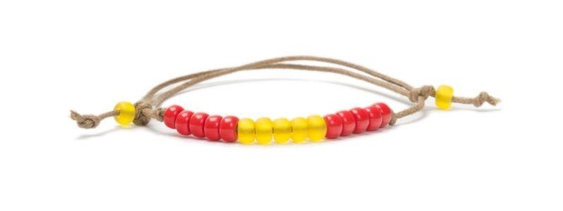 Armbänder mit Rocailles Länderspiel Spanien