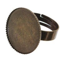 Ring für runde Cabochons 20 mm zum Einkleben, bronzefarben