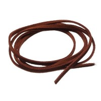 Velourlederband, 2 x 2,8 mm, Länge ca. 1 m, hellbraun