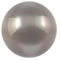Polarisperle glänzend, rund, ca. 14 mm, dunkelgrau