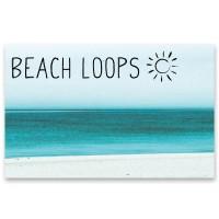 """Schmuckkarte """"Beach Loop - Wellen"""", quer, Größe 8,5 x 5,5 cm"""