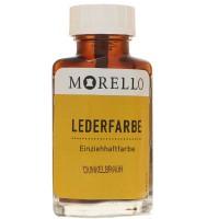 Morello Lederfarbe, Flasche mit Auftragepinsel, 40 ml,  Dunkelbraun