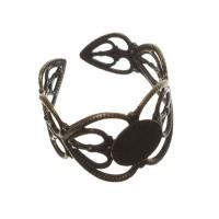 Ringschiene mit Klebefläche für Cabochons, verstellbar, bronzefarben