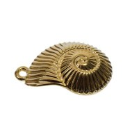 Metallanhänger Muschel, 36 x 25 mm, vergoldet