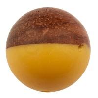 Perle aus Holz und Resin, Kugel, 15,0 mm, Loch 1,6 mm, gelb