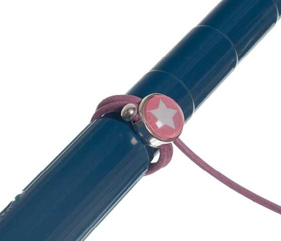Wickelring mit Lederband und Glascabochons Schritt 4