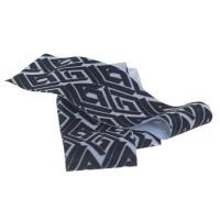 Lycra-Band, Breite 30 mm, Länge 1 m, dehnbar, geometric schwarz