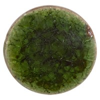 Keramikcabochon, Rund, grün, Durchmesser 20, Höhe 3 mm