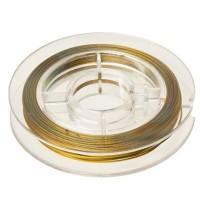 Griffin Draht 0,45 mm, 7 strands, 10 Meter, goldfarben