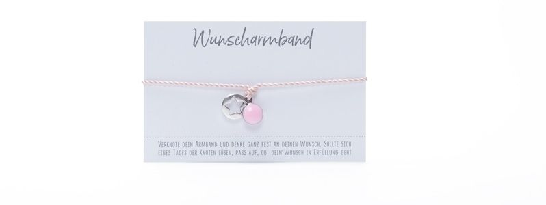 Wunscharmband Stern Rosa