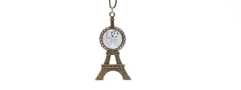 Kette mit Anhänger Eiffelturm bronzefarben