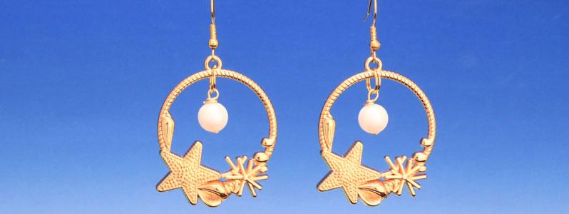 Ohrringe für Meerjungfrauen mit Seestern