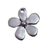 Metallanhänger, Blume, 20,5 x 20,5 mm, versilbert