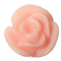 Kunststoffcabochon Rose, 11 x 8 mm, rosa