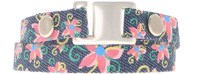 Breites Armband für Slider aus Jeansband Hakenverschluss