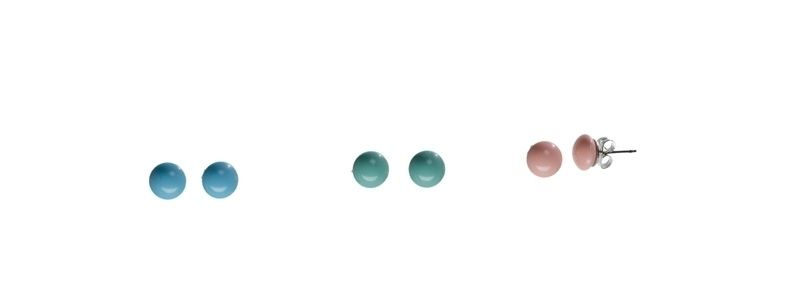 Ohrstecker mit Crystal Pearl Cabochons Pastell